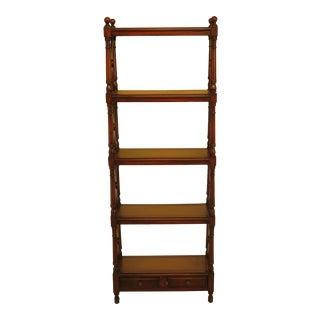 Theodore Alexander Tall Open Mahogany Bookshelf