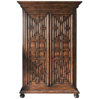 Geometric Armoire by Charles Pollock for the William Switzer Collection (Dark)