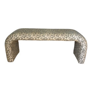 Karl Springer Style Waterfall Bench For Sale