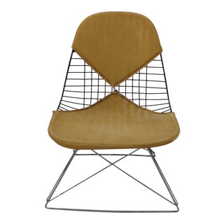 Original Charles and Ray Eames LKR Chair on Zinc Cats Cradle Base For Sale