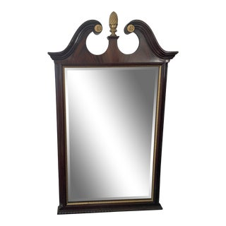 Late 20th Century Councill Chippendale Mahogany Mirror For Sale