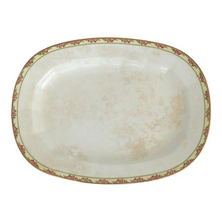 Large Vintage Shabby Chic Platter For Sale