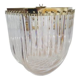 1970's Mid-Century Modern Lucite Ribbon Style Chandelier For Sale
