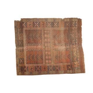 "Antique Turkmen Square Rug 5' x 5'11"""