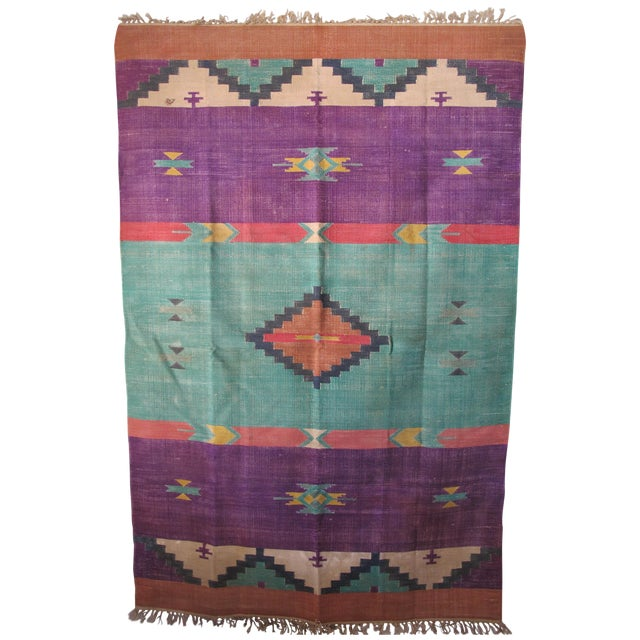 Santa Fe Flat Weave Rug - 4′ × 6′ - Image 1 of 4