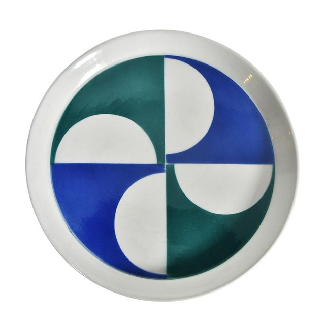 Italian Gio Ponti for Franco Pozzi Ceramic Plates For Sale - Image 3 of 12