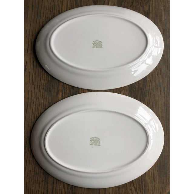 Asian Double Phoenix Nikko Oval Dishes - A Pair For Sale - Image 3 of 7