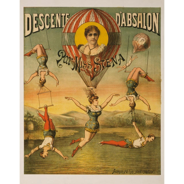 """Descente D'Absalon"" Print of French Circus Poster - Image 1 of 5"