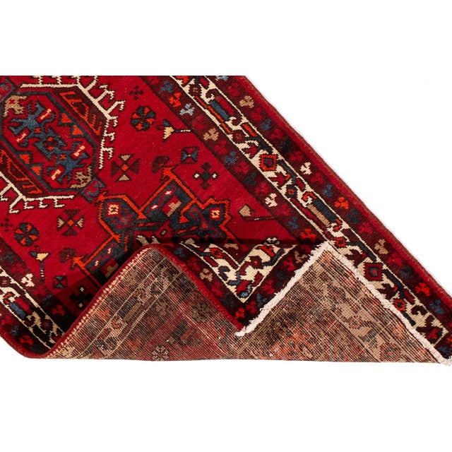 "Apadana - Vintage Persian Heriz Runner Rug, 3'1"" X 10'11"" For Sale - Image 4 of 7"