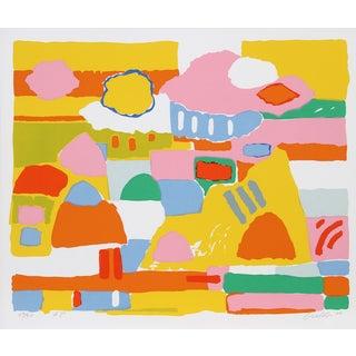 """John Grillo, """"Landscape Ii,"""" Serigraph For Sale"""