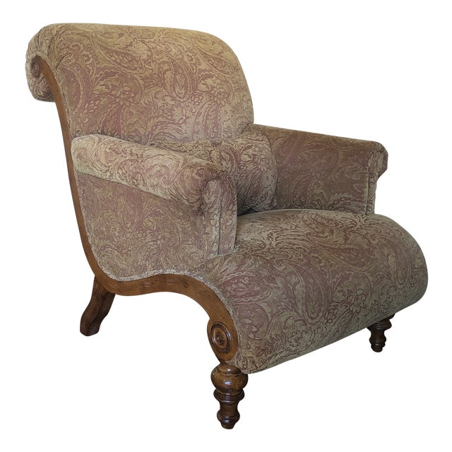 French Country Drexel Heritage Curved Hathaway Chair