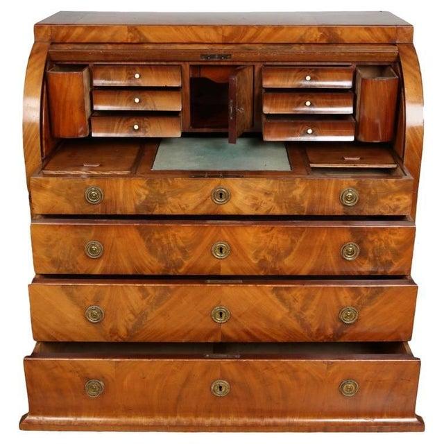Biedermeier Mahogany Root Secretaire, Circa 1820 For Sale - Image 10 of 10
