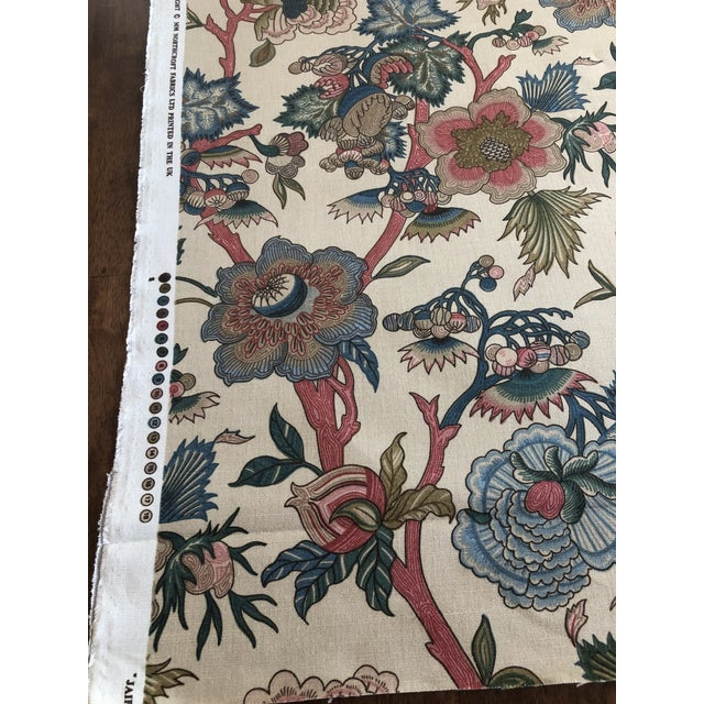 """Jacobean Northcroft """"Jaipur"""" Floral Fabric - 1 3/4 Yards For Sale - Image 4 of 6"""