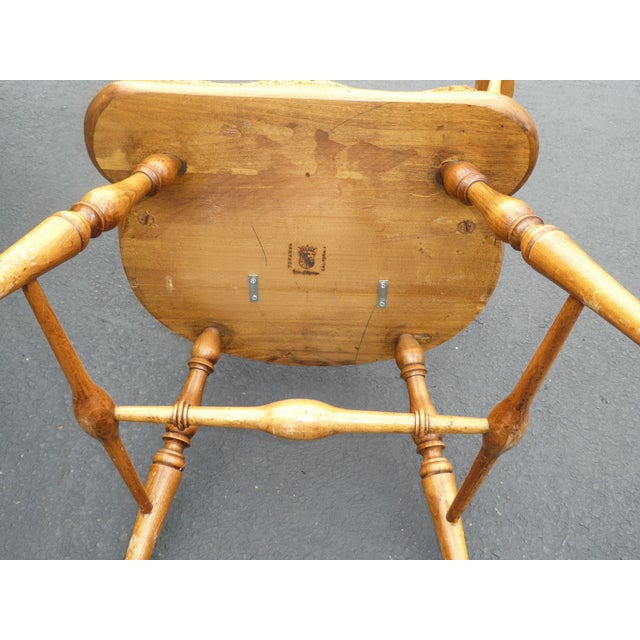Jean of Topanga Vintage High Banister Windsor Chair Farmhouse Chic For Sale - Image 11 of 11