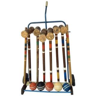 Vintage Croquet Set -14 Pieces