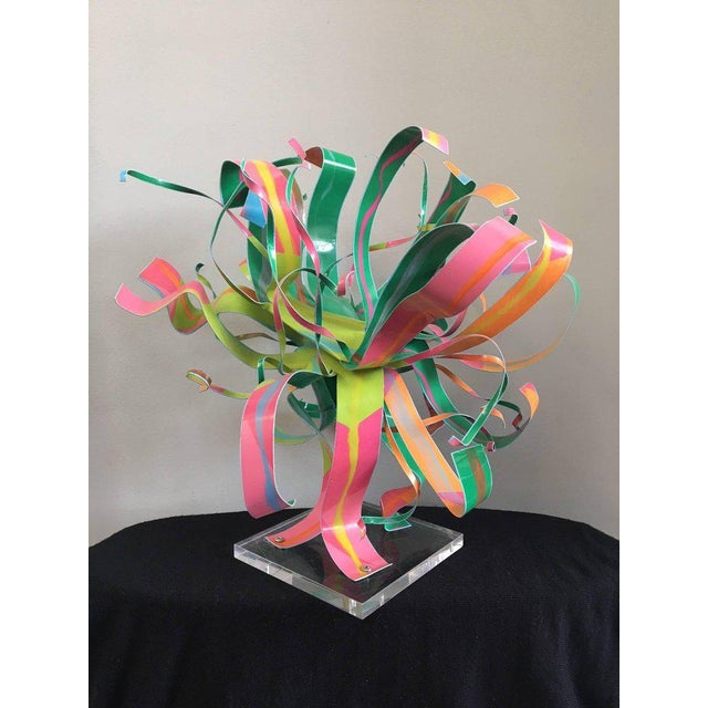 Dorothy Gillespie Starburst Metal Modern Art Sculpture For Sale - Image 6 of 8
