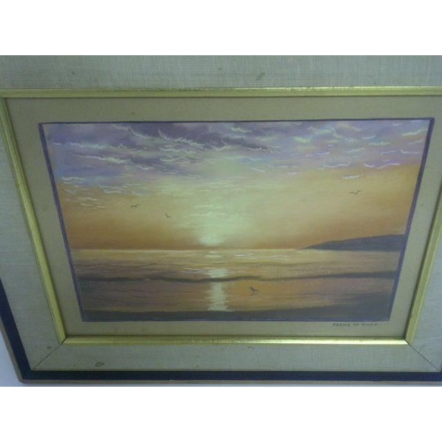 """""""Ocean at Sunset"""", Pastel Painting by Frank Rupp - Image 3 of 6"""