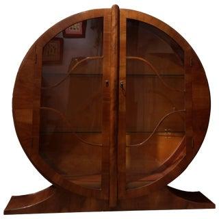 1930's Vintage Art Deco Display Cabinet For Sale