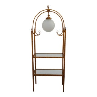 Chelsea House Lighted Gold Gilded Etagère For Sale
