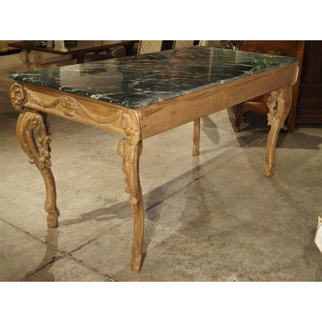 Wood Antique English Limewood Console Table, Circa 1785 For Sale - Image 7 of 11