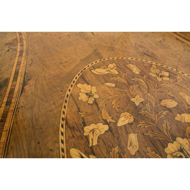 18th Century Inlaid Italian Commode With Bombe Shape and Dutch Marquetry For Sale - Image 9 of 11