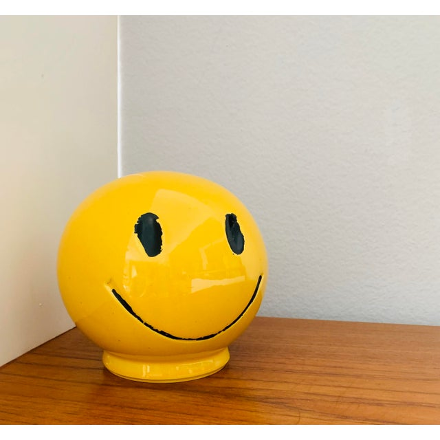 """1970s Vintage """"Have a Nice Day"""" Smiley Face Ceramic Bank For Sale In Palm Springs - Image 6 of 6"""