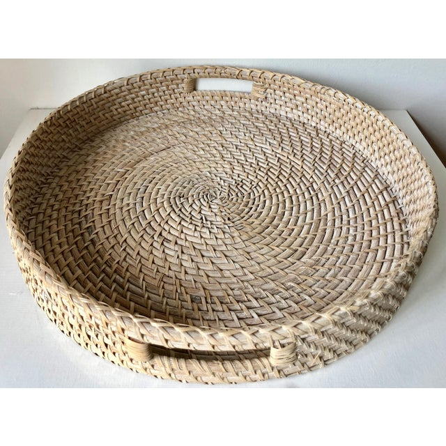 "Artifacts Rattan 18""Round Tray For Sale - Image 9 of 10"