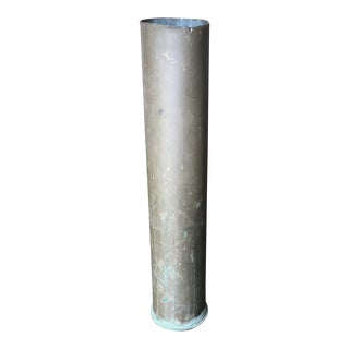 Vintage Brass Artillery Shell Casing Trench Art Vase For Sale
