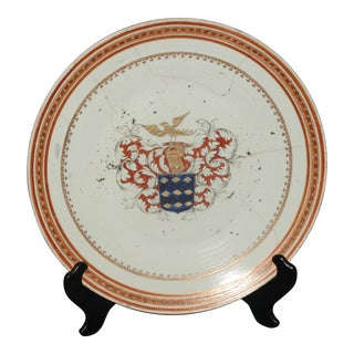 Style Chinese Export Armorial Chop Plate For Sale