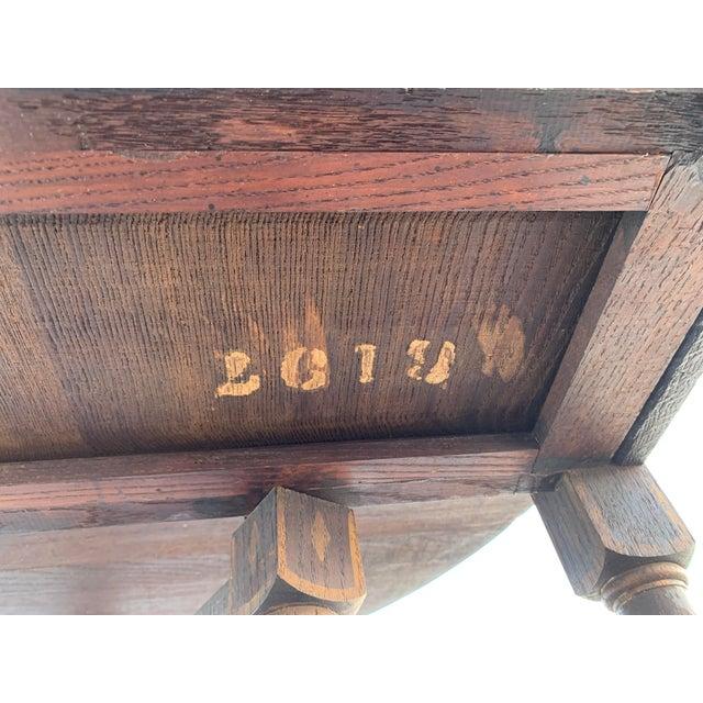 Antique Renaissance Twist Gate Leg Drop Leaf Table For Sale - Image 12 of 13