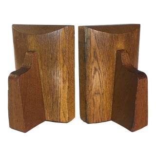 Quarter Sawn Oak Bookends - A Pair