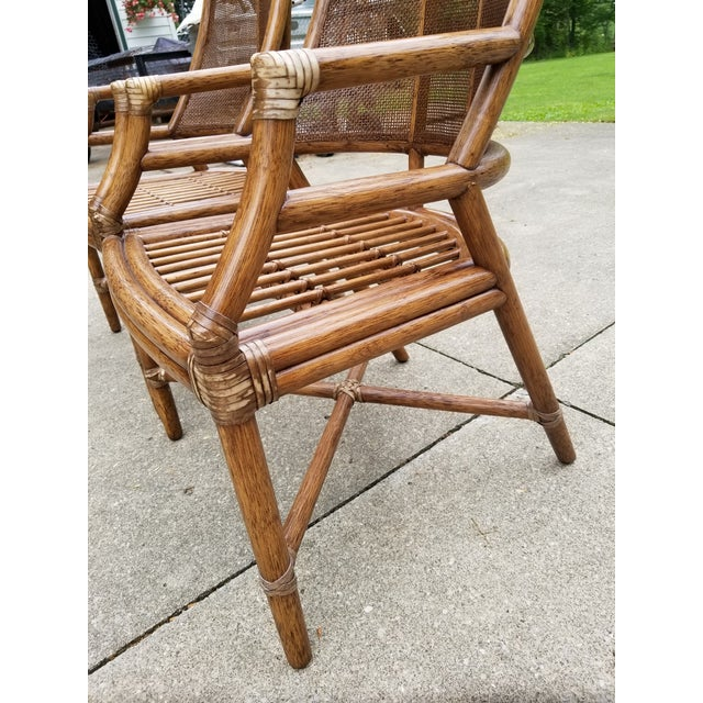 McGuire Rattan Cane Lounge Arm Chairs - a Pair - Image 3 of 8