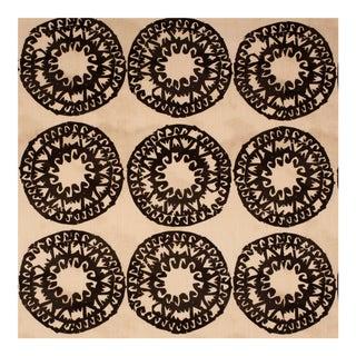 Sample - Justina Blakeney Lakai Printed Cotton and Linen Fabric, Graphite For Sale