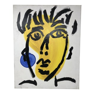 "1990s Peter Keil ""Face"" Contemporary Painting For Sale"