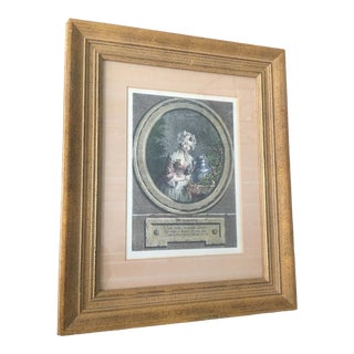 Late 19th Century Antique Milkmaid French Framed Perrette Engraving For Sale