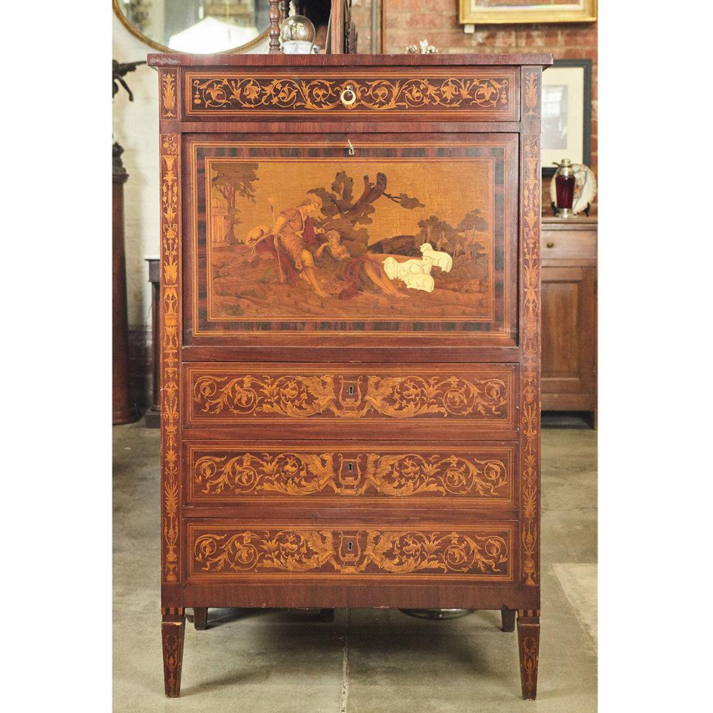 This Beautiful Italian Cabinet From The 1920u0027s Is Done In An Earlier Style  With Intricate Marquetry