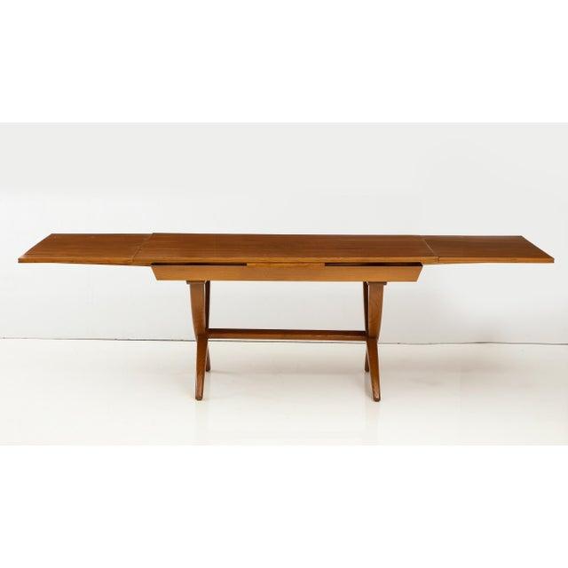 Oak Guglielmo Pecorini Extension Dining Table For Sale - Image 7 of 13