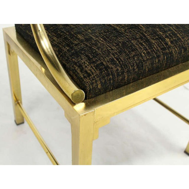 1960s Mid-Century Modern Pair of Brass Barrel Back Chairs by Mastercraft For Sale - Image 5 of 10