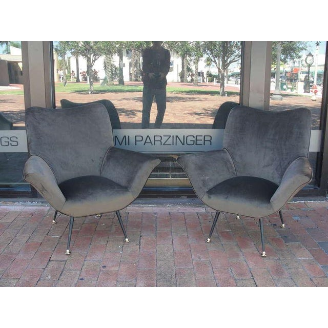 Pair of Italian Open-Arm Chairs - Image 2 of 7