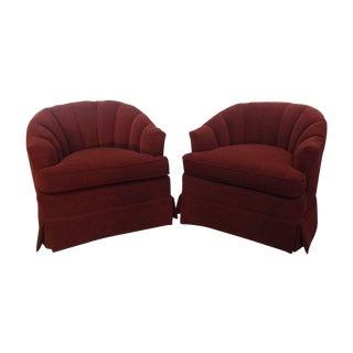 Vintage Henredon Club Chairs - A Pair