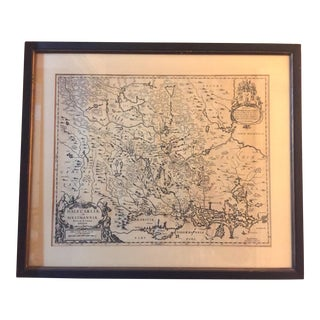 "17th Century ""Dalecarliae and Westmannia, Vplandia"" Dual Sided Map by Moses Pitt For Sale"
