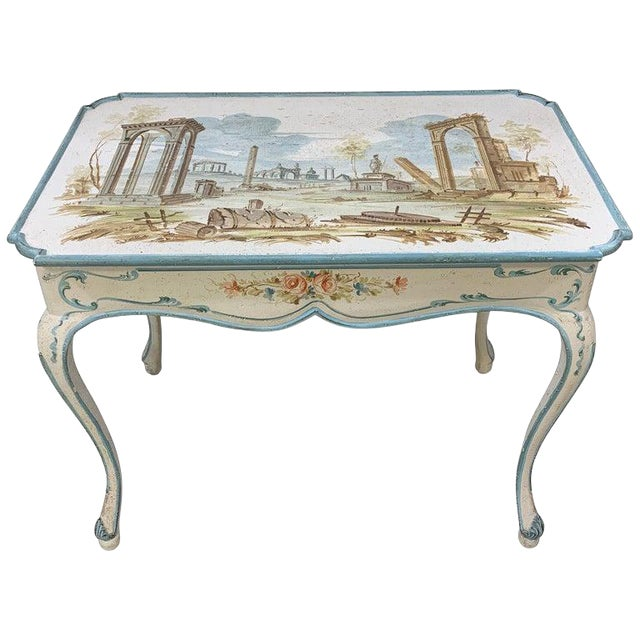 Venetian Painted Table or Desk For Sale