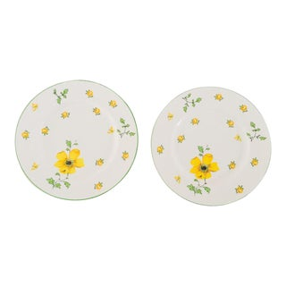 Royal Victoria Fine Bone China Salad Plates - A Pair For Sale