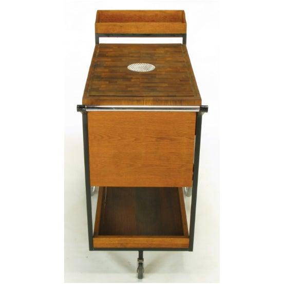 Bill W. Sanders Mid-Century Rolling Bar Cart - Image 9 of 10
