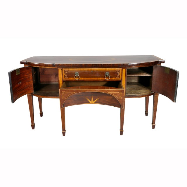 George III Mahogany and Satinwood Sideboard For Sale - Image 4 of 12