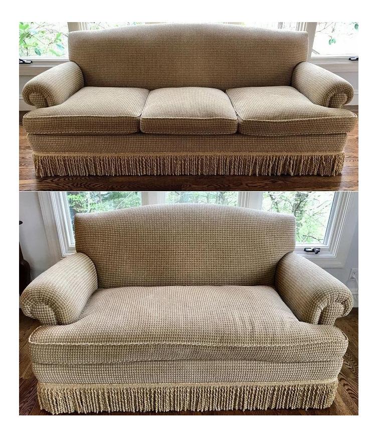 Brunschwig U0026 Fils Oxford Gold Chenille Fabric Sofa U0026 Loveseat   A Pair ...
