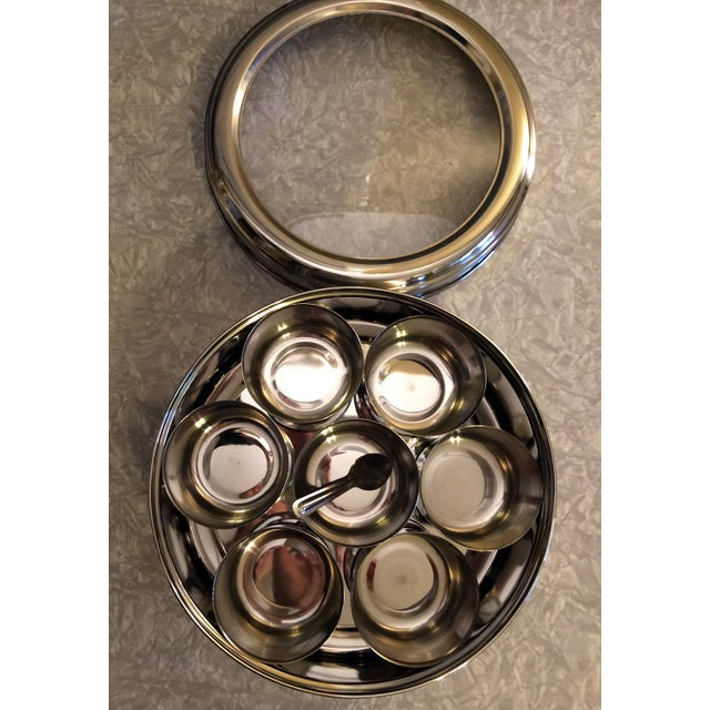 9-Spice Stainless Steel Masala Dabba Spice Box - Image 3 of 7