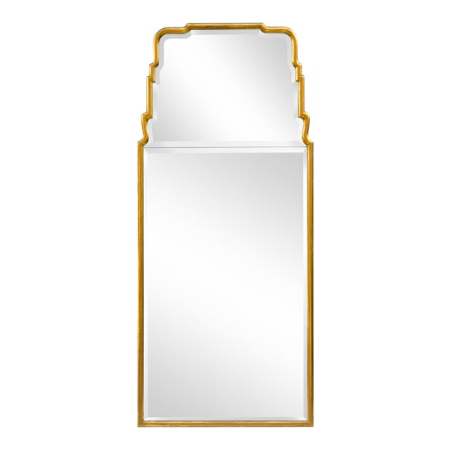 Large Queen Anne Divided Plate Mirror For Sale