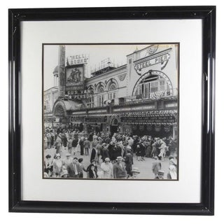 Contemporary Photo Print of Vintage Atlantic City Boardwalk Black and White For Sale