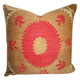 Suzani Bolinpush Accent Pillow For Sale